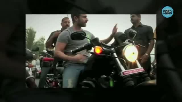 Agent Vinod On His Harley-Davidson In Bandra video