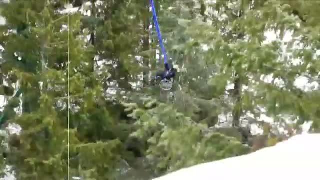Video of a paraplegic woman wheelchair bungee jumping goes viral...