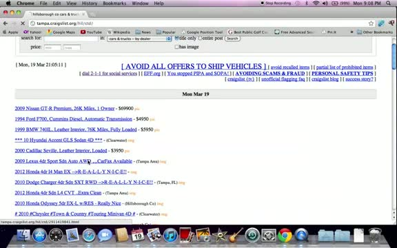 Craigslist Tampa FL Cars - Used Trucks and Vans Available