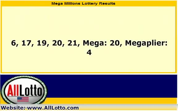 Mega Millions Lottery Drawing Results for March 23, 2012