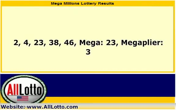 Mega Millions Lottery Drawing Results for March 30, 2012