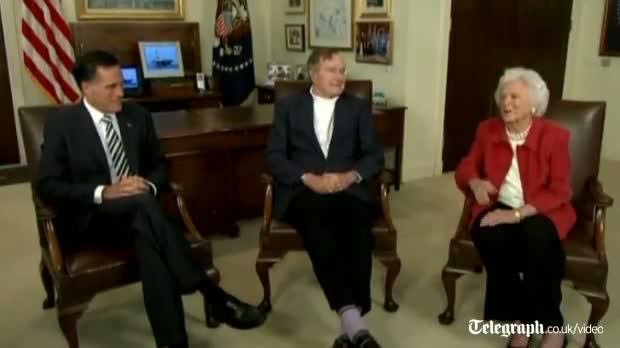 George Bush endorses Mitt Romney video