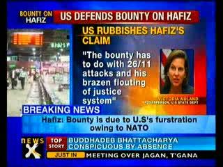 Bounty on Hafiz Saeed for Mumbai terror attack - US
