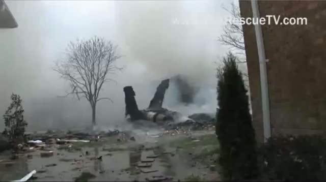 Raw Video - Smoke, Flames After Va. Jet Crash