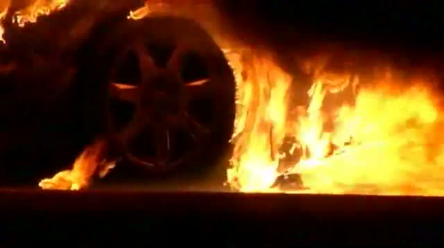 Man Rescued From Burning Car video