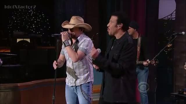Lionel Richie - Say You, Say Me (feat. Jason Aldean) - David Letterman 3-27-12