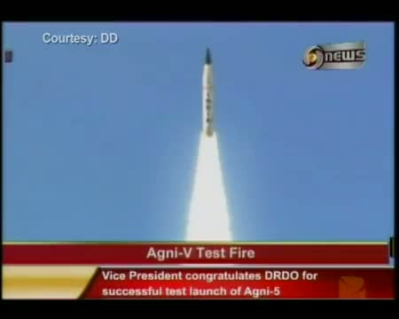India's first ICBM Agni V Missile launched successfully