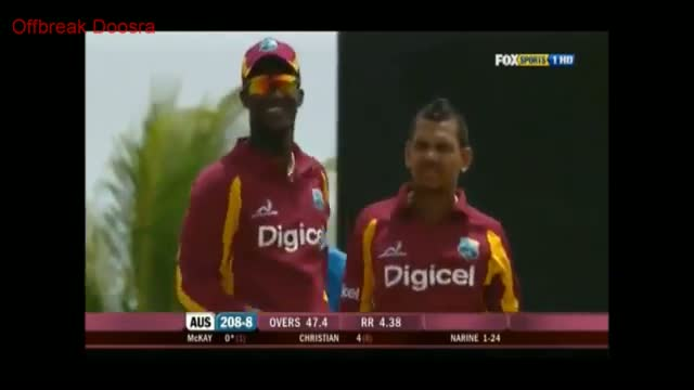 "Sunil Narine Carrom Ball/Doosra/Knuckle Ball To Clint McKay, ""UNPLAYABLE"""