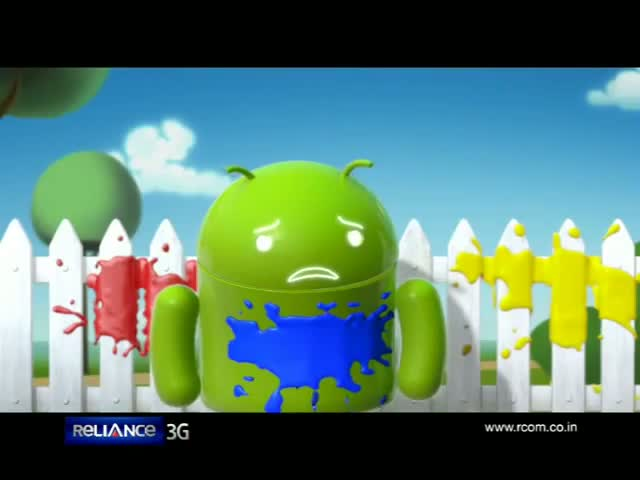 Reliance Android - Blue Bot Balloon (10 secs)