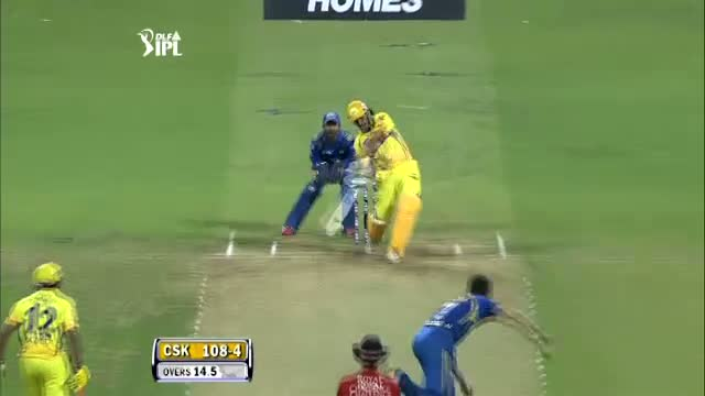 M.S Dhoni Longest Six in IPL 2012 - MI vs CSK, Eliminator