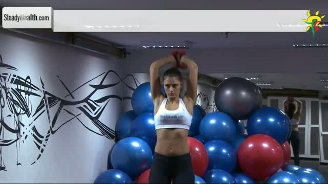 Triceps Workout with Dumbbells - Tone your Underarm flab with Standing Triceps Extension
