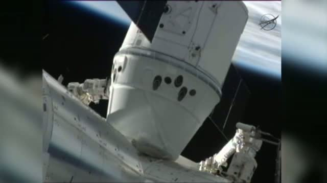 Dragon Arrives at Space Station in Historic 1st