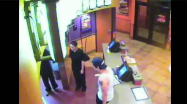 Raw Video - Robber Uses Drive-thru Window