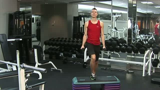 Dumbbell Exercises _ Aerobic Steps With Dumbbells