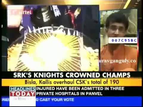 Sourav Ganguly on KKR's IPL 5 Triumph