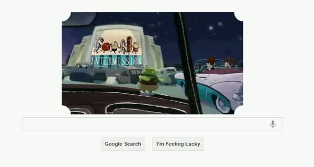 Google Celebrates The Opening of the First Drive-In Theater With New Doodle June 6 2012
