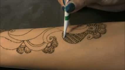Full Hand Mehendi Henna Art : Bollywood Style