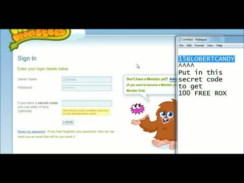 Moshi Monsters Codes For Rox - Get 100 Free ROX! Secret 4 video - id  37199d997e - Veblr Mobile