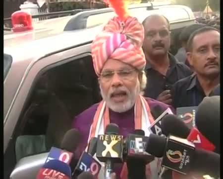 Modi flags off Jagannath Rath Yatra in Ahmedabad