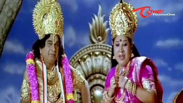 Comedy King Brahmi as Lord Vishnu. - Telugu Cinema Movies