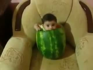 Baby Eating Watermelon - Funny Baby Video