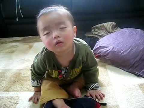 Baby is Falling A Sleep Like a Cute Kitten