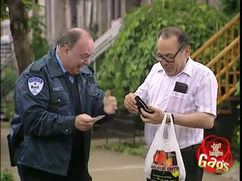 Laughing Police Officer Gag