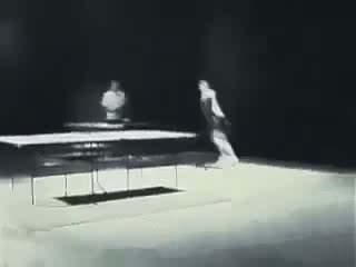 Bruce Lee Plating Table Tennis, Amazing