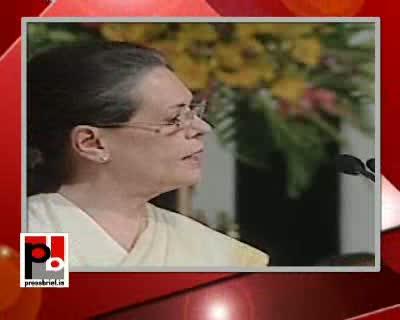 Sonia Gandhi at UPA II's Third anniversary function, 22nd May 2012