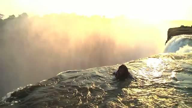 Beautiful Victoria water Falls! natural heavan on earth Devils Pool Zambia HD Video