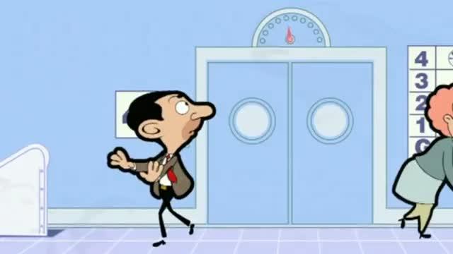 Mr Bean - Racing a lift - Wettrennen mit Lift