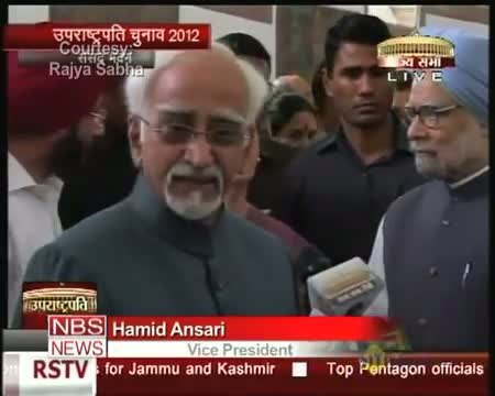 VP elections Hamid Ansari files nomination papers