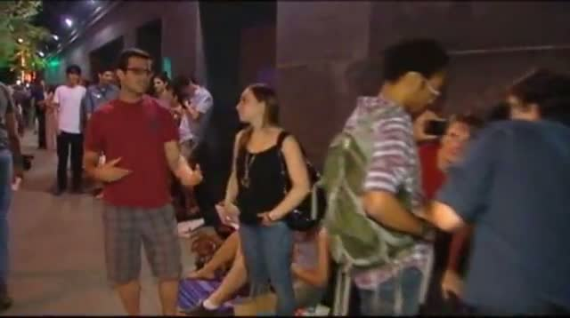 Raw Video - Dark Knight Rises, Fans Line Up Early