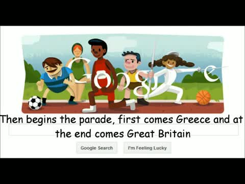 Opening Ceremony London 2012 (Olympia) Google Doodle