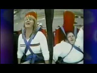 Fat kid on rollercoaster. Funny shit. Must watch