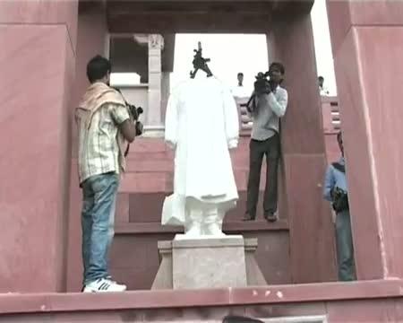 Maya's damaged statues restored overnight