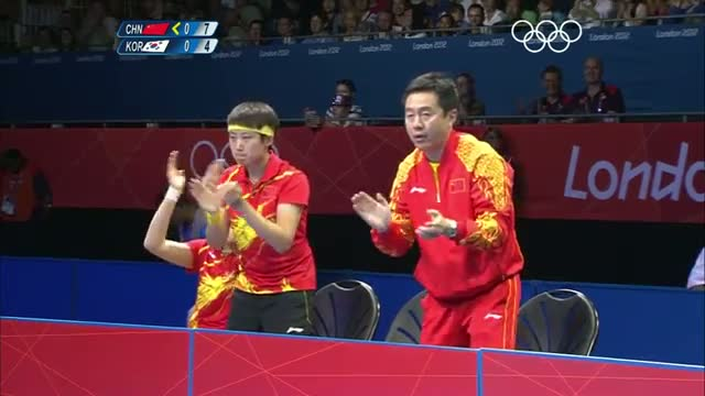 Table Tennis Women's Team Semi Finals - China v Korea - London 2012 Olympic Games Highlights