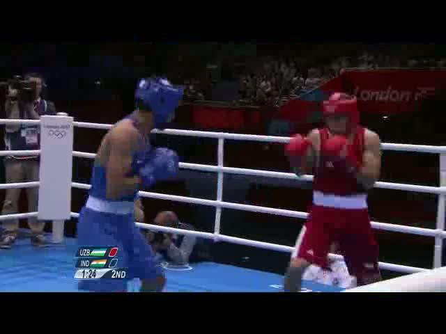 Boxing Men's Middle (75kg) Quarterfinals - Vijender v Atoev - London 2012 Olympic Games