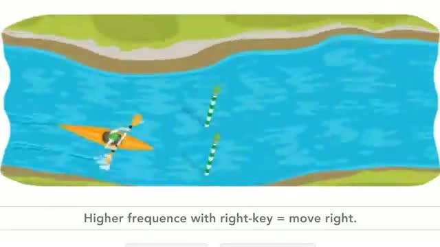 How to play the London 2012 slalom canoe Google doodle