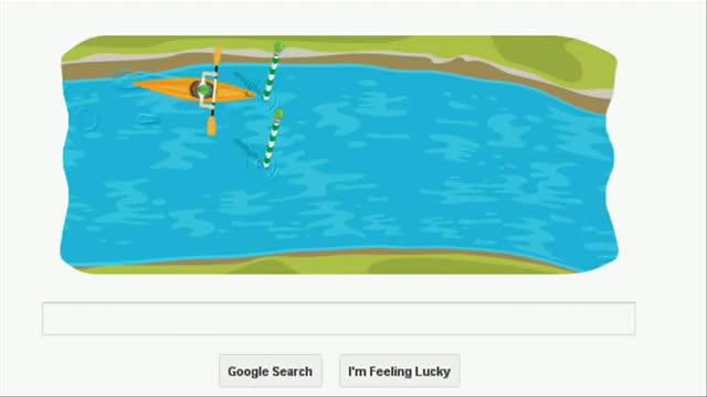 London 2012 Slalom Canoe: Google's 3rd playable doodle