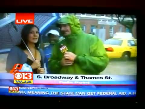 Drunk girl CBS interview in bad weather (video id - 361c959978)