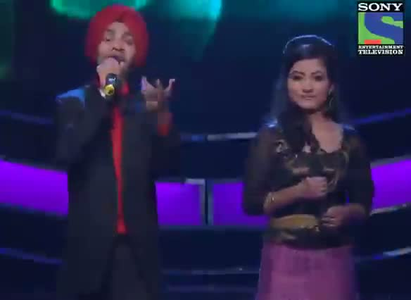 INDIAN IDOL SEASON 6 - EPISODE 22 - BEST PERFORMANCES - POORVI KOUTISH AND DEVENDRA SINGH SINGS 'ANKHON HI ANKHON MEIN' - 11TH AUGUST 2012