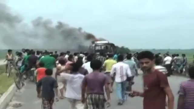 Army stages flag march in riot hit areas of Assam