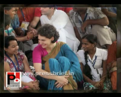 Rahul Gandhi and Priyanka Gandhi distribute cycles on Rajiv Gandhi's birth anniversary