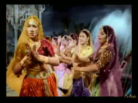 Mohe Panghat Pe Nandlal - Mughal-E-Azam (1960) - Lata Mangeshkar - Shri Krishna