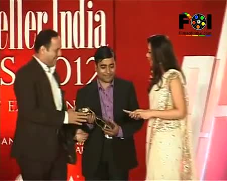 Dia Mirza Looking Red Hot In An Anarkali - Retail Jeweller India Awards 2012
