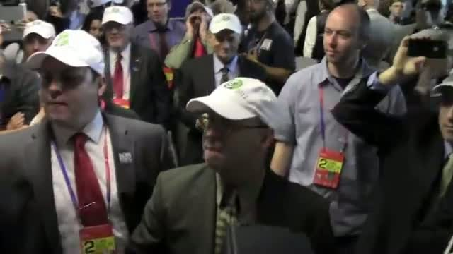 Ron Paul's Maine delegates erupt after getting barred from Republican convention.