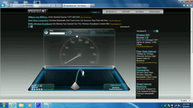 Virgin Mobile MiFi 2200 Speedtest