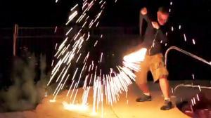 Steel Wool Fire Swing Fail