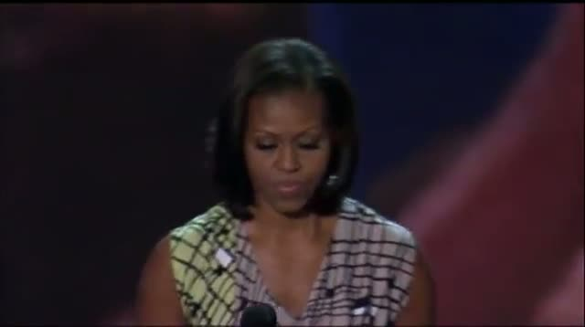 Raw Video - Michelle Obama Checks Out DNC Stage